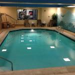 Indoor Pool, fitness room is next door (in the window)