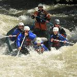 Whitewater rafting on the Gallatin with guide Danielle and guide in training Ryan. June 2012