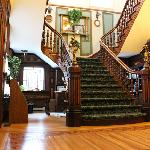The grand lobby staircase