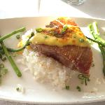 Tuna Steak in the sunset grill restaurant