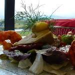 Salat mit Kings Prawn