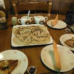 Sourdough pancake breakfast