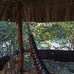 Veranda overlooking the Moho River