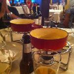 Fondue is available for appetizer, main course and dessert.