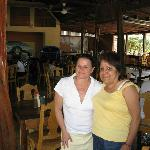 Inside Kike's Restaurant/Bar , Kikes wife on our last day saying goodby