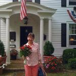 The Bride of 25 years at the B&B