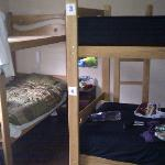 Room with 4 bunk beds