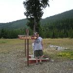 sign pointing to the taver at home ranch bottoms