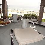 朝食時レストランからの風景
