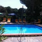 la piscina a disposizione