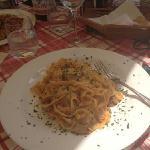 tagliatelle with mushroom and cream sauce