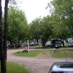 View of campground RV sites