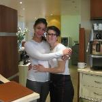 Receptionist Federica with VIP breakfast lounge supervisor Matilda