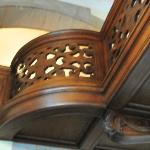 Original wood-carved balustrades