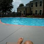 enjoying the afternoon poolside