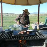 Head Wrangler Jerry Kinkade on the cook's day off