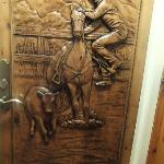 Our bedroom door to the Cowboy Suite