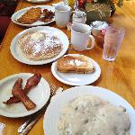 Hearty Breakfast at the White Mountain Cafe in the McCloud River Mercantile Hotel