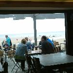 View from Crusoes Cafe on Long Sands Beach.