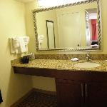 large lavatory area - all accommodations, same size