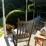 It was pleasant to sit out in the morning or afternoon on the porch overlook the gardens.
