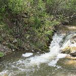 Creek above the Bismark mine shelter.