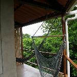 hammocks on the private veranda