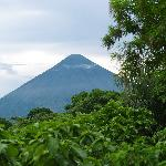 view of the volcano from the shared deck