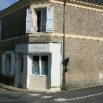 outside (former boulangerie shop - now used for dining)