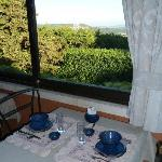 Views of the Luberon from dining