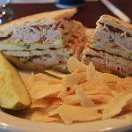 Applewood Panini with chips and pickle