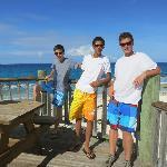 deck of Moonshine Bar/beach