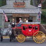 Stage Coach in the town square
