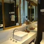 Super clean toilet with basic toiletries set