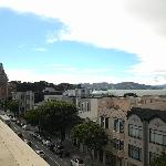 View from the rooftop deck looking toward the Golden Gate Bridge