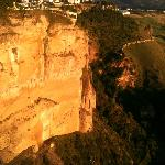 Cliffs of Ronda at sunset....an easy walk from the hotel.