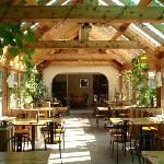Timber Framed Solarium Dining Area