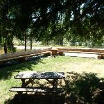 Outdoor tables and seating area