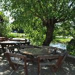 Beer garden and Pond