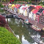 Lego brick model of Nyhavn, Denmark