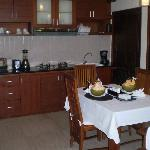 Our kitchenette with young coconuts upon arrival for the girls