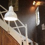 L'escalier qui mène à la chambre