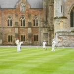 Croquet on the Green at the Bishops Palace