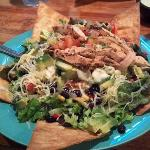 Chicken Fiesta Salad - awesome and easily enough for two people!