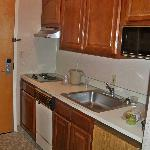 Kitchen in room.
