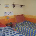 Room was comfortable! We liked to lay on the beds to read, watch tv and chat