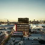 Wythe Hotel Elevation at Sunset