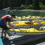 Selecting one of the tandem sea kayaks