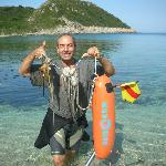 Spiros and his catch of Octopus
