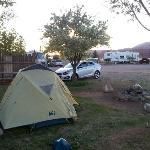Pitching camp